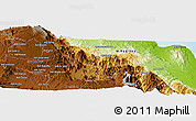 Physical Panoramic Map of Barresa