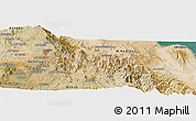 Satellite Panoramic Map of Barresa