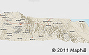 Shaded Relief Panoramic Map of Damba