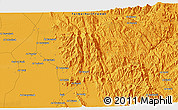 """Political 3D Map of the area around 15°17'31""""N,43°25'29""""E"""