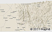 """Shaded Relief 3D Map of the area around 15°17'31""""N,43°25'29""""E"""