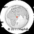 Outline Map of Ma'rib, rectangular outline