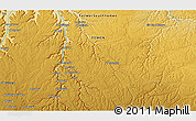 """Physical 3D Map of the area around 15°17'31""""N,48°31'29""""E"""