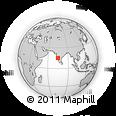Outline Map of Hubli, rectangular outline