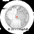 Outline Map of Nara, rectangular outline