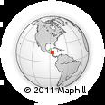 Outline Map of San Esteban, rectangular outline
