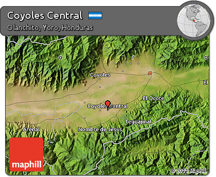 Free Satellite Map Of Coyoles Central