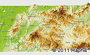 Physical 3D Map of Agua Blanca Sur