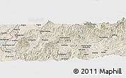 Shaded Relief Panoramic Map of Playa del Padre