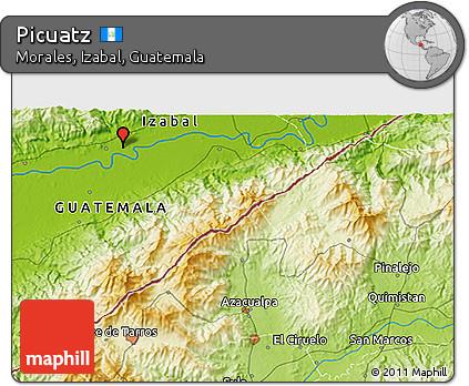 Physical 3D Map of Picuatz