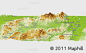 Physical Panoramic Map of La Sabana