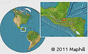 """Satellite Location Map of the area around 15°17'31""""N,89°10'30""""W"""