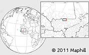 Blank Location Map of Beïdat