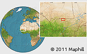 Satellite Location Map of Beïdat