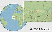 Savanna Style Location Map of Beïdat