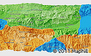 Political 3D Map of La Cumbre