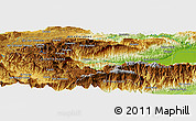 Physical Panoramic Map of Agua Caliente