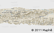 Shaded Relief Panoramic Map of La Cumbre