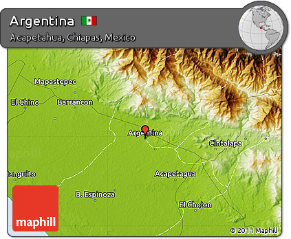 Free Physical Map Of Argentina - Physical map of argentina