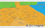 Political 3D Map of Donboné