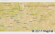 """Satellite 3D Map of the area around 15°17'31""""N,9°16'30""""W"""