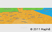 """Political Panoramic Map of the area around 15°17'31""""N,9°16'30""""W"""