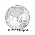 Outline Map of Chaiyaphum, rectangular outline