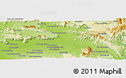 Physical Panoramic Map of Ban Napha