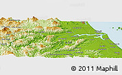 """Physical Panoramic Map of the area around 15°48'18""""N,108°1'30""""E"""