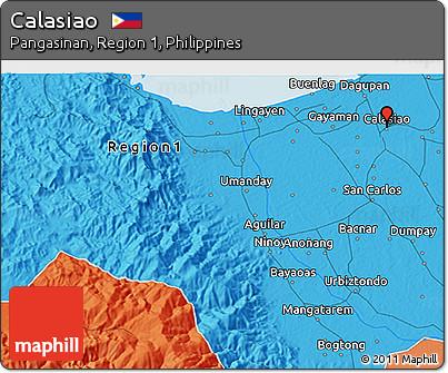 Political 3D Map of Calasiao