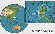 Satellite Location Map of Calasiao