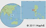 Savanna Style Location Map of Calasiao