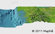 Satellite Panoramic Map of Calasiao