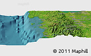 Satellite Panoramic Map of Urbiztondo