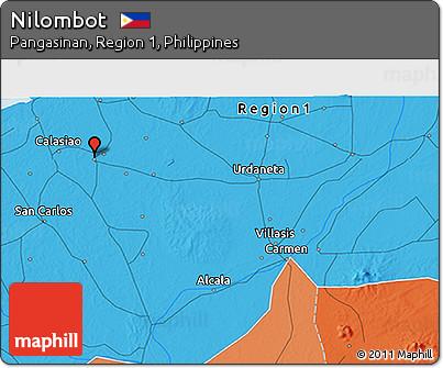 Political 3D Map of Nilombot