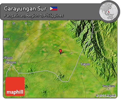 Free Satellite Map of Carayungan Sur