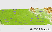 Physical Panoramic Map of Calanutan
