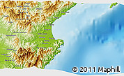 """Physical 3D Map of the area around 15°48'18""""N,121°37'30""""E"""