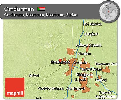 Free Physical Map of Omdurman