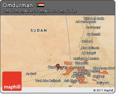 Free Satellite Panoramic Map of Omdurman