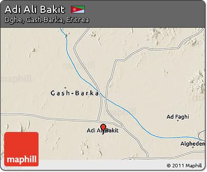 Shaded Relief 3D Map of Adi Ali Bakit