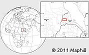 Blank Location Map of Adi Ali Bakit