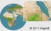Satellite Location Map of Adi Ali Bakit