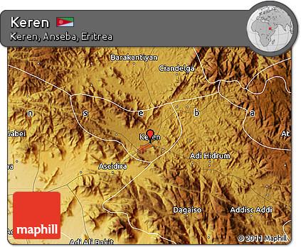 Free Physical Map of Keren