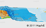 Political Panoramic Map of Dek'ī Zer`u