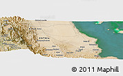 Satellite Panoramic Map of Dek'ī Zer`u