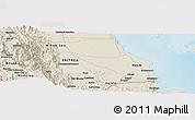 Shaded Relief Panoramic Map of Dek'ī Zer`u