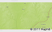 """Physical 3D Map of the area around 15°48'18""""N,3°28'30""""E"""