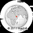Outline Map of Ḩajjah, rectangular outline