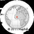 Outline Map of Niafunke, rectangular outline